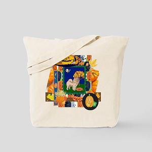 Scrapbook Chow Chow Halloween Tote Bag
