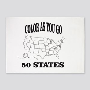 color as you go 50 states help 5'x7'Area Rug