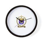 DUQUET Family Crest Wall Clock