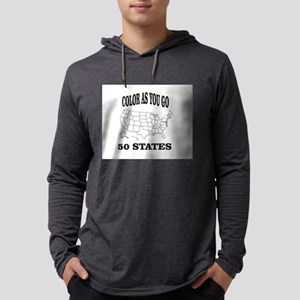 color as you go 50 states help Long Sleeve T-Shirt