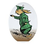 Orange Forest Rabbit Oval Ornament