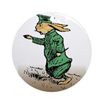 Orange Forest Rabbit Ornament (Round)