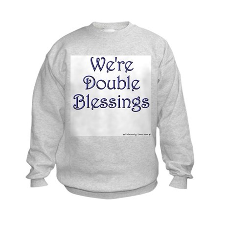 Double Blessings Kids Sweatshirt