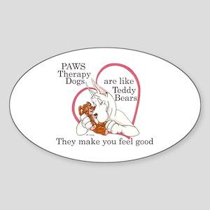 PAWS TD CW Oval Sticker