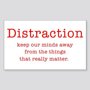 Distraction Rectangle Sticker