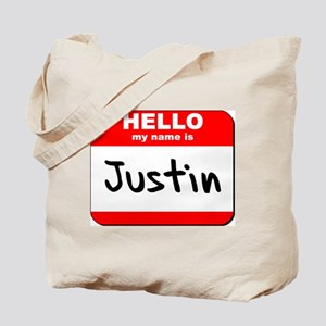 Hello my name is Justin Tote Bag