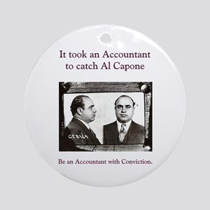 Al Capone Accountant Keepsake (Round)