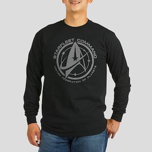 Grey Starfleet Command Emblem Long Sleeve T-Shirt