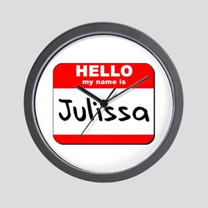 Hello my name is Julissa Wall Clock