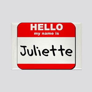 Hello my name is Juliette Rectangle Magnet