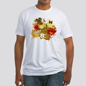 Peace Abstract Art Fitted T-Shirt