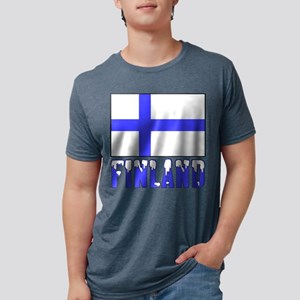 Finland Flag Name Snow T-Shirt