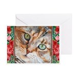 242 - Cat Piglet Greeting Cards