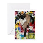 245 - Cat Francesca Greeting Cards