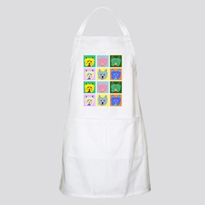 Colorful West Highland Terrier BBQ Apron