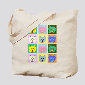 Colorful West Highland Terrier Tote Bag