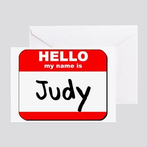 Hello my name is Judy Greeting Card