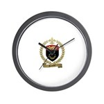 DUMONT Family Crest Wall Clock