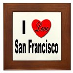 I Love San Francisco Framed Tile