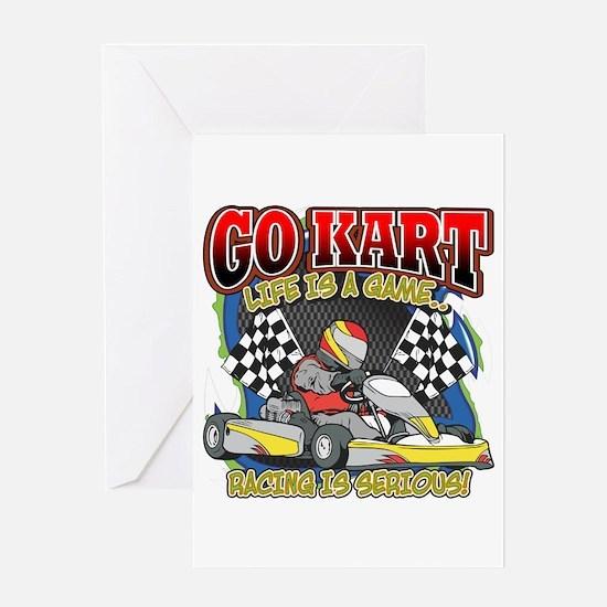 Go Kart Life Greeting Card