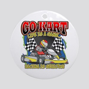 Go Kart Life Ornament (Round)