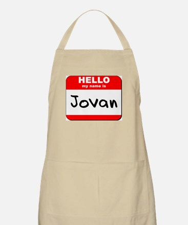 Hello my name is Jovan BBQ Apron