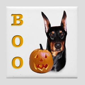 Dobie Boo Tile Coaster