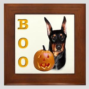 Dobie Boo Framed Tile
