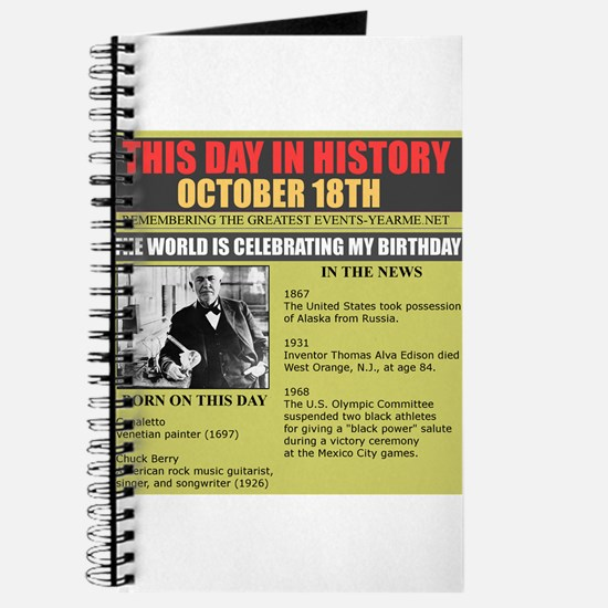 BORN ON OCTOBER 18TH Journal