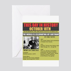 BORN ON OCTOBER 18TH Greeting Card