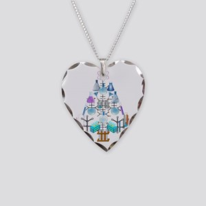 Oh Chemistry, Oh Chemist Tree Necklace Heart Charm