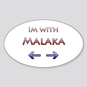 Malaka Oval Sticker