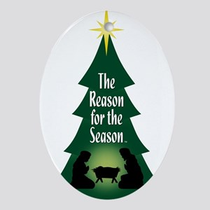 Reason for the Season Traditional Oval Ornament