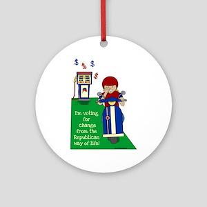 Scoot To Vote Ornament (Round)