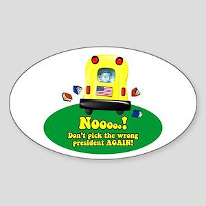 Kids Vote Oval Sticker