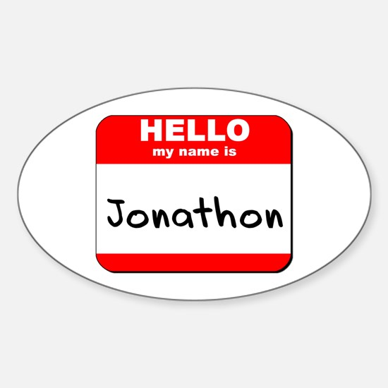 Hello my name is Jonathon Oval Decal