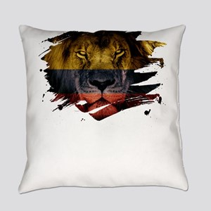Colombia Flag & African Lion P Everyday Pillow