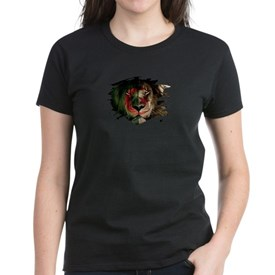 Algeria Flag & African Lion Picture T-Shirt