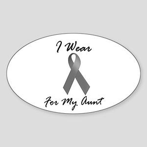 I Wear Grey For My Aunt 1 Oval Sticker