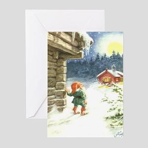 God Jul och Godt Nyatt År Greeting Cards (Package