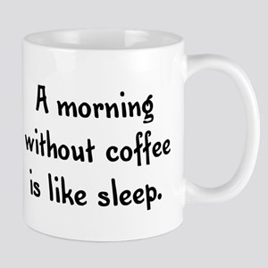 A morning without coffee is l Mug