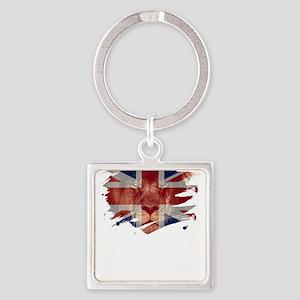 United Kingdom Flag & African Lion P Keychains