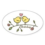 Love Birdies Oval Sticker