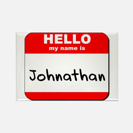 Hello my name is Johnathan Rectangle Magnet