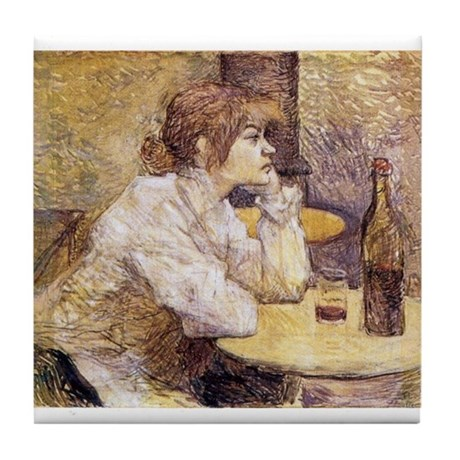 The Hangover (Woman Drinking) Tile Coaster
