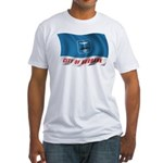 Wavy Burbank Flag Fitted T-Shirt
