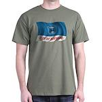 Wavy Burbank Flag Dark T-Shirt