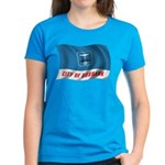 Wavy Burbank Flag Women's Dark T-Shirt