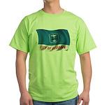 Wavy Burbank Flag Green T-Shirt