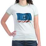 Wavy Burbank Flag Jr. Ringer T-Shirt